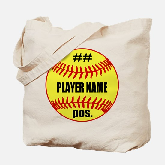 NAME NUMBER POSITION PERSONALIZED SOFTBALL Tote Ba