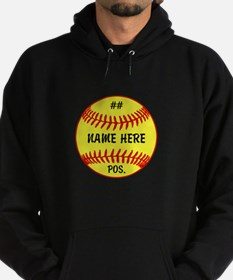 NAME NUMBER POSITION PERSONALIZED SOFTBALL Hoodie