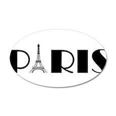 Paris Eiffel Tower in Black Wall Decal