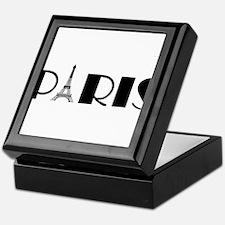 Paris Eiffel Tower in Black Keepsake Box
