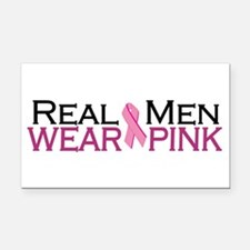 Real Men Wear Pink Rectangle Car Magnet