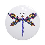 Dragonfly #1 Ornament (Round)