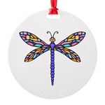 Dragonfly #1 Round Ornament