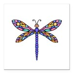 Dragonfly #1 Square Car Magnet 3