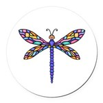 Dragonfly #1 Round Car Magnet