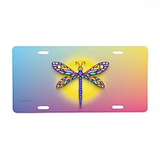Dragonfly1-Sun-gr1 Aluminum License Plate