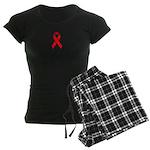 Red Ribbon Women's Dark Pajamas