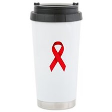 Red Ribbon Travel Mug