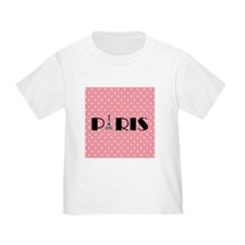 Pink Polka Dot Paris Eiffel Tower T