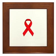 Red Ribbon Framed Tile