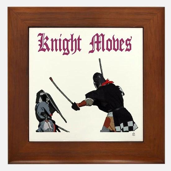 Knight Moves Framed Tile