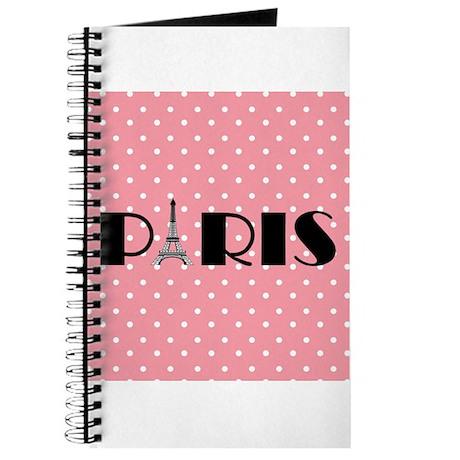 Pink Polka Dot Paris Eiffel Tower Journal