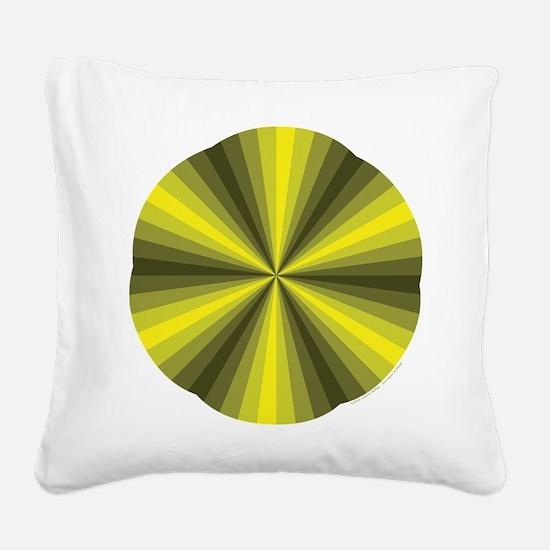 Yellow Illusion Square Canvas Pillow