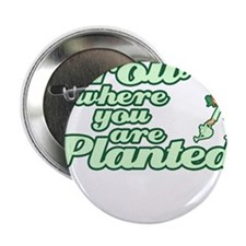 "Grow where you are PLANTED 2.25"" Button"