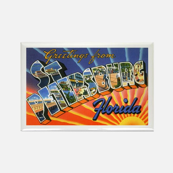 St Petersburg Florida Greetings Rectangle Magnet
