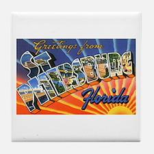 St Petersburg Florida Greetings Tile Coaster