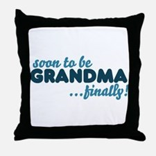 Soon to be GRANDMA Throw Pillow