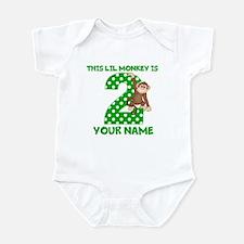 2nd Birthday Boy Monkey Infant Bodysuit