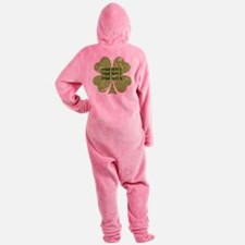[Your text] St. Patrick's Day Footed Pajamas