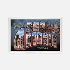 San Antonio Texas Greetings Rectangle Magnet