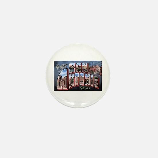 San Antonio Texas Greetings Mini Button