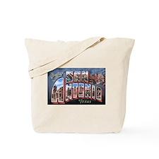 San Antonio Texas Greetings Tote Bag