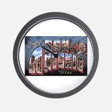 San Antonio Texas Greetings Wall Clock
