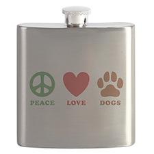 Peace Love Dogs 2 Flask