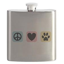 Peace Love Pets [i] Flask