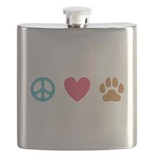 Peace Love Dogs [st] Flask