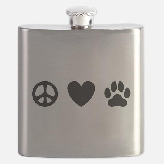 Peace Love Dogs [st b/w] Flask