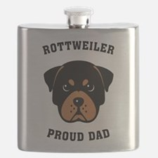 Rottweiler Proud Dad Flask