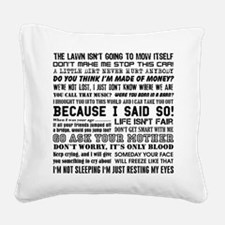 Dad-isms Square Canvas Pillow
