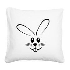 bunny_face_b.png Square Canvas Pillow