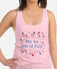 my1st_4thjuly.png Racerback Tank Top