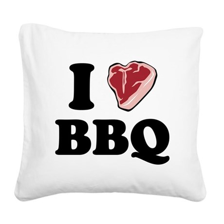 bbq_heart.png Square Canvas Pillow