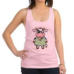 funny_cow.png Racerback Tank Top