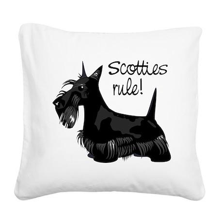 4-scotties_rule.png Square Canvas Pillow