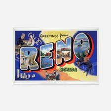 Reno Nevada Greetings Rectangle Magnet