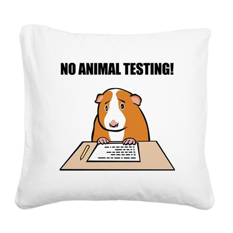 animal_testing_b.png Square Canvas Pillow