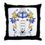 Pont Coat of Arms Throw Pillow