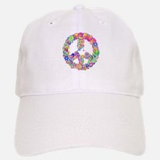 Flower power Hippie Design Baseball Baseball Cap