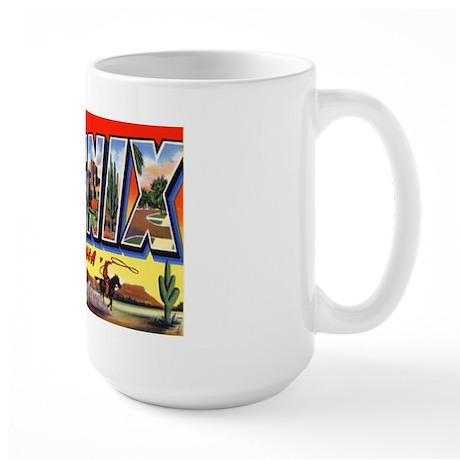 Phoenix Arizona Greetings Large Mug