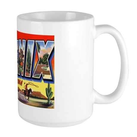 Phoenix Arizona Greetings Large Mug