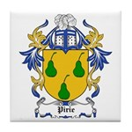 Pirie Coat of Arms Tile Coaster