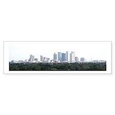 Tampa Bay Skyline Bumper Car Sticker