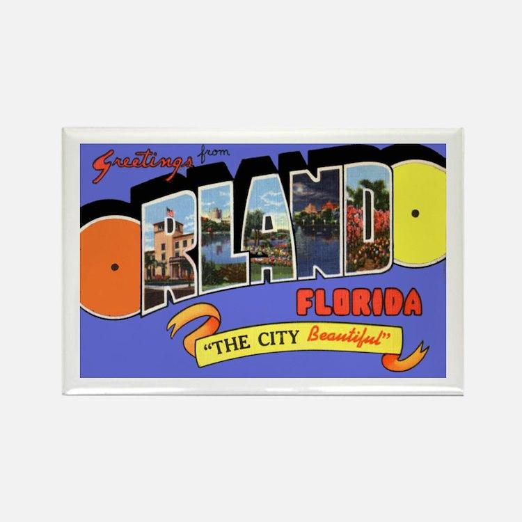 Orlando Florida Greetings Rectangle Magnet