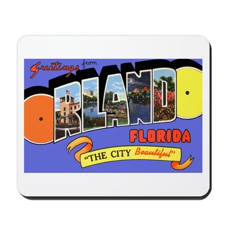 Orlando Florida Greetings Mousepad