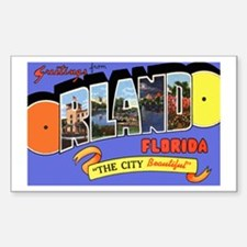 Orlando Florida Greetings Rectangle Decal