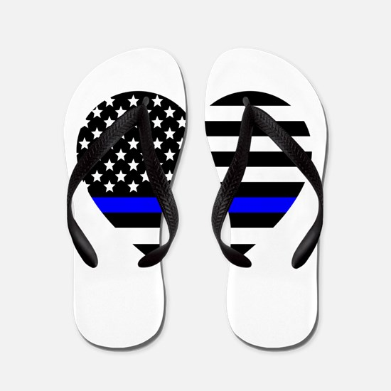Thin Blue Line Love Flip Flops